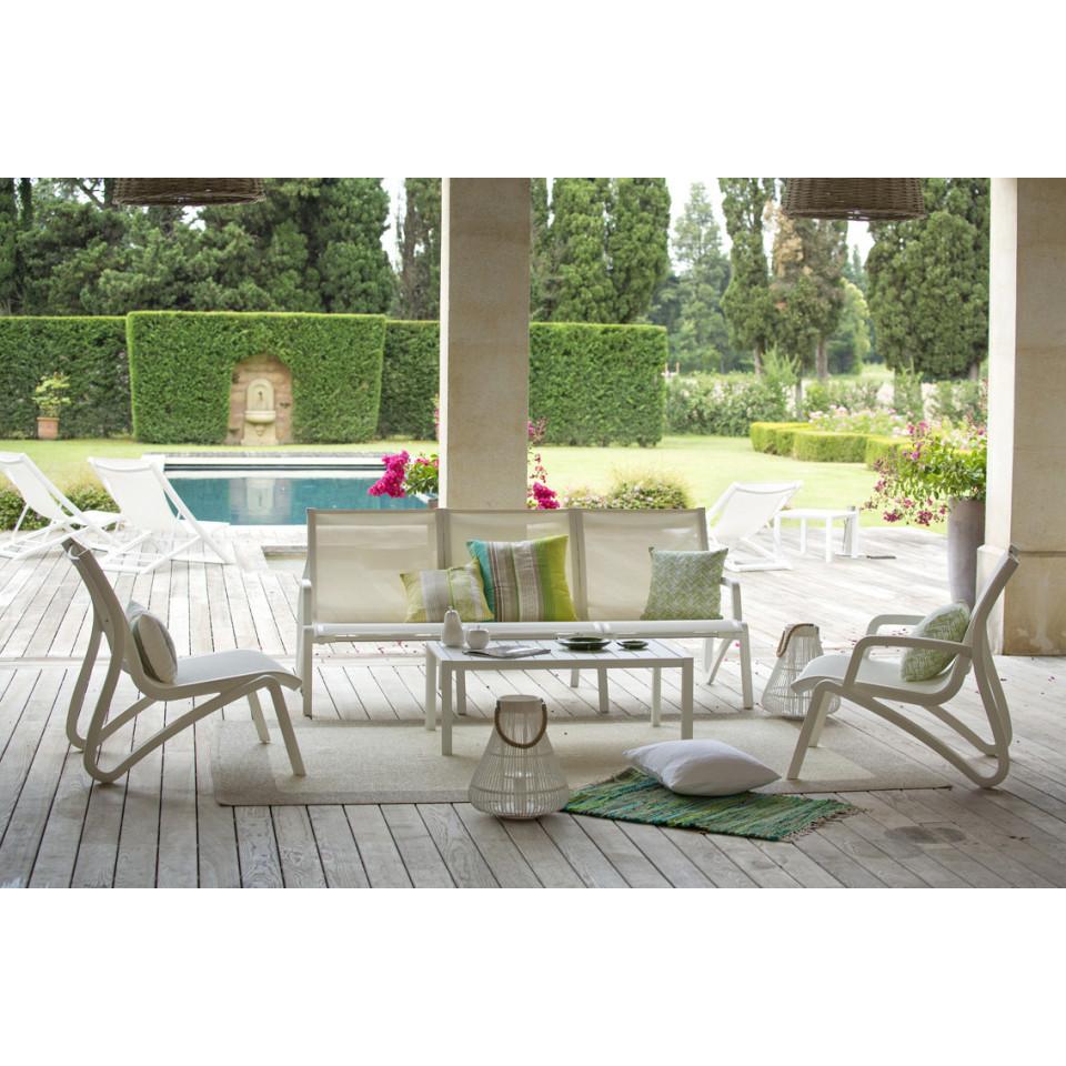 canap bas de jardin avec accoudoirs sunset 3 places. Black Bedroom Furniture Sets. Home Design Ideas