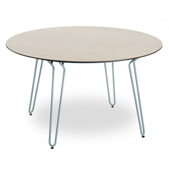 Table Ramatuelle Ø130 cm piedsmétal - plateau HPL