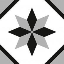 Carreaux adhésifs Square Rosace noire