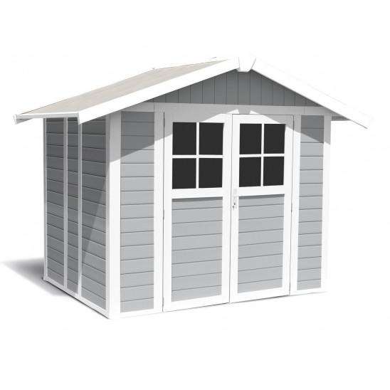 Abri de jardin Déco 4,9 m² gris clair