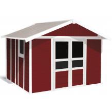 Abri de jardin Basic Home 11 m² Rouge brique
