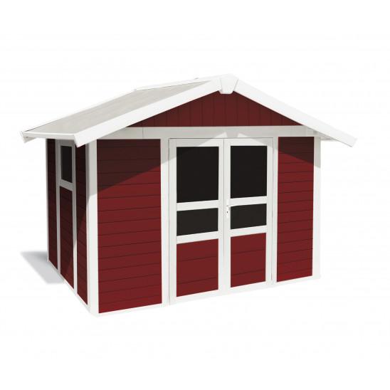 Abri de jardin Basic Home 7,5 m² Rouge brique