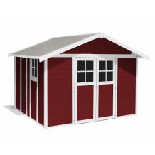 Abri de jardin Déco 11 m² rouge brique
