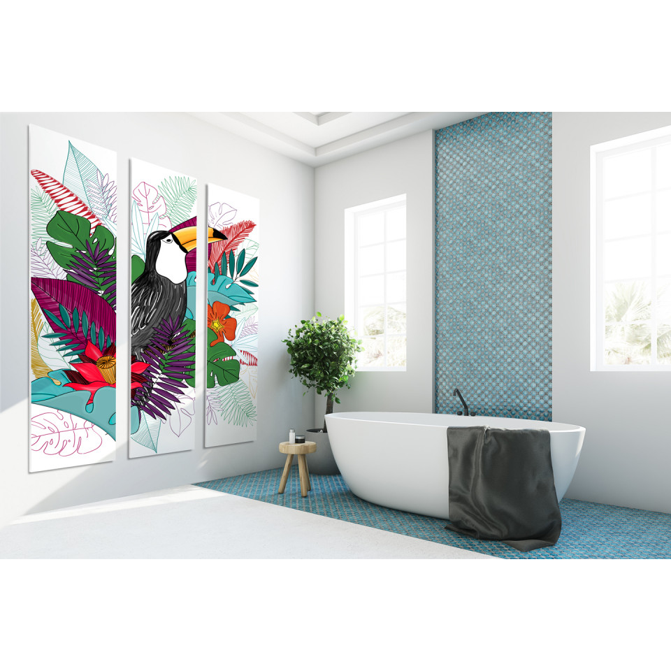 cadre d coratif mural toucan colour. Black Bedroom Furniture Sets. Home Design Ideas