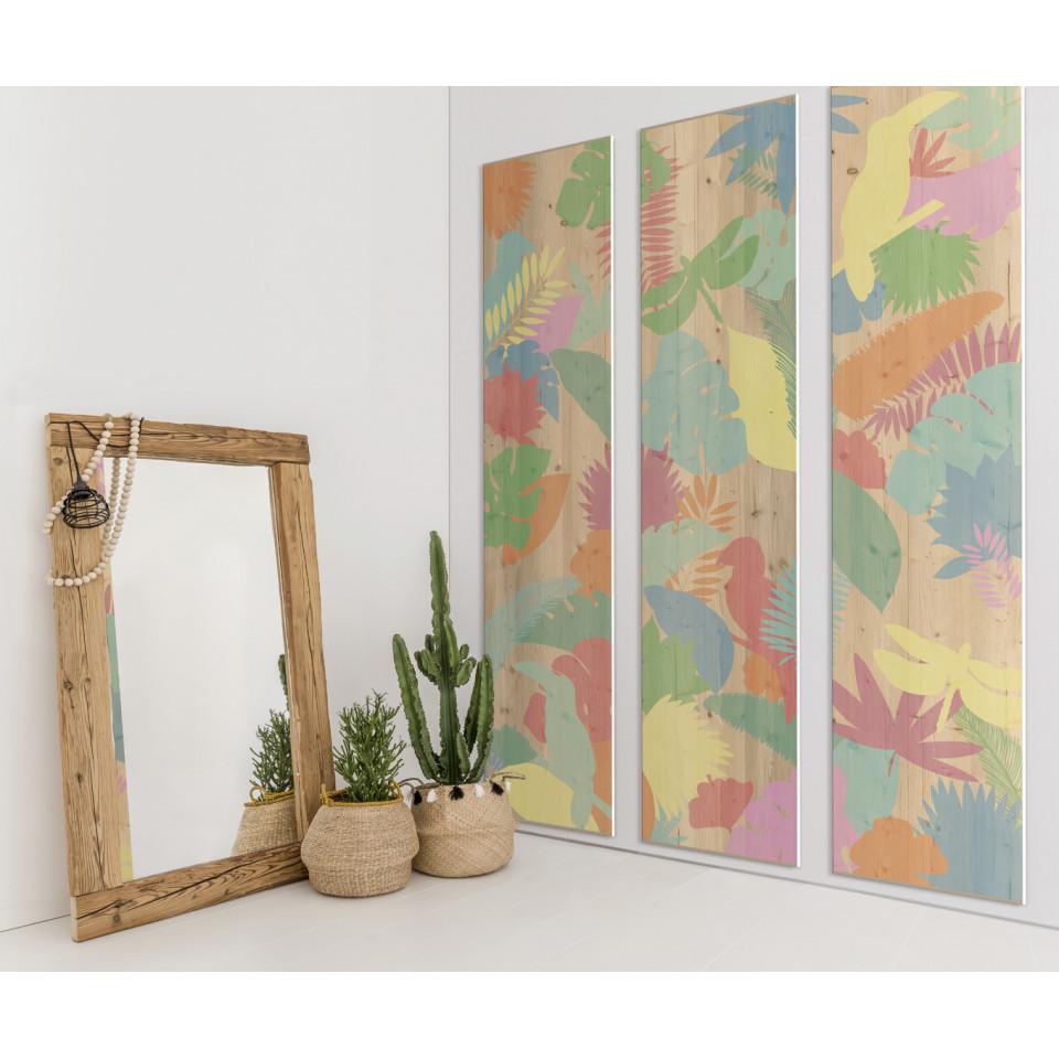 cadre d coratif mural jungle colour. Black Bedroom Furniture Sets. Home Design Ideas