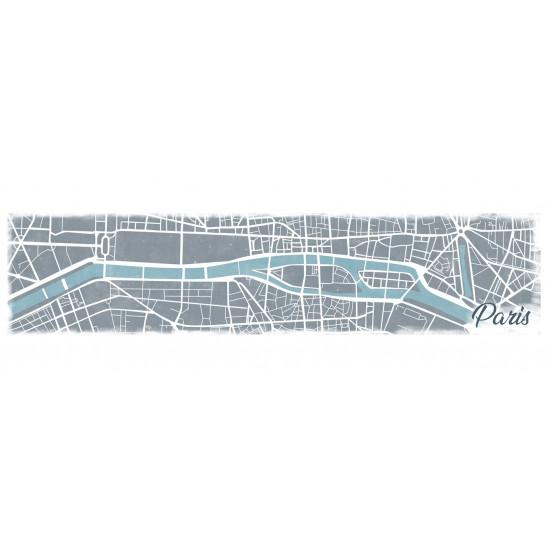 Cadre décoratif mural pano Paris Map