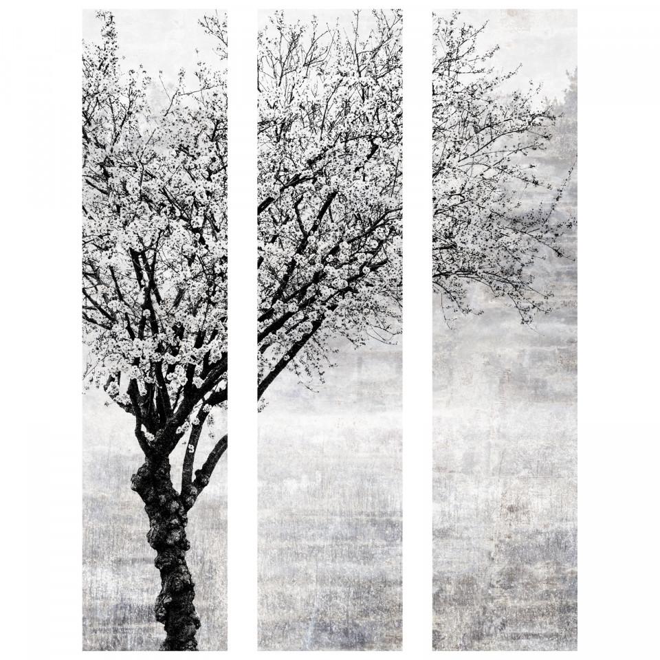 cadre décoratif mural arbre noir & blanc