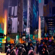 Mur décoratif Element 3D My City