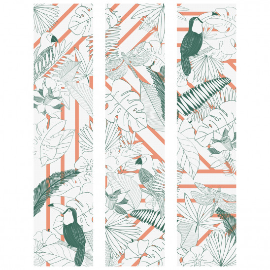 Cadre décoratif mural Jungle Graphik