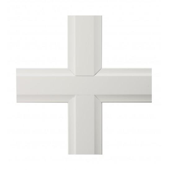 Petit bois PVC blanc 46 mm