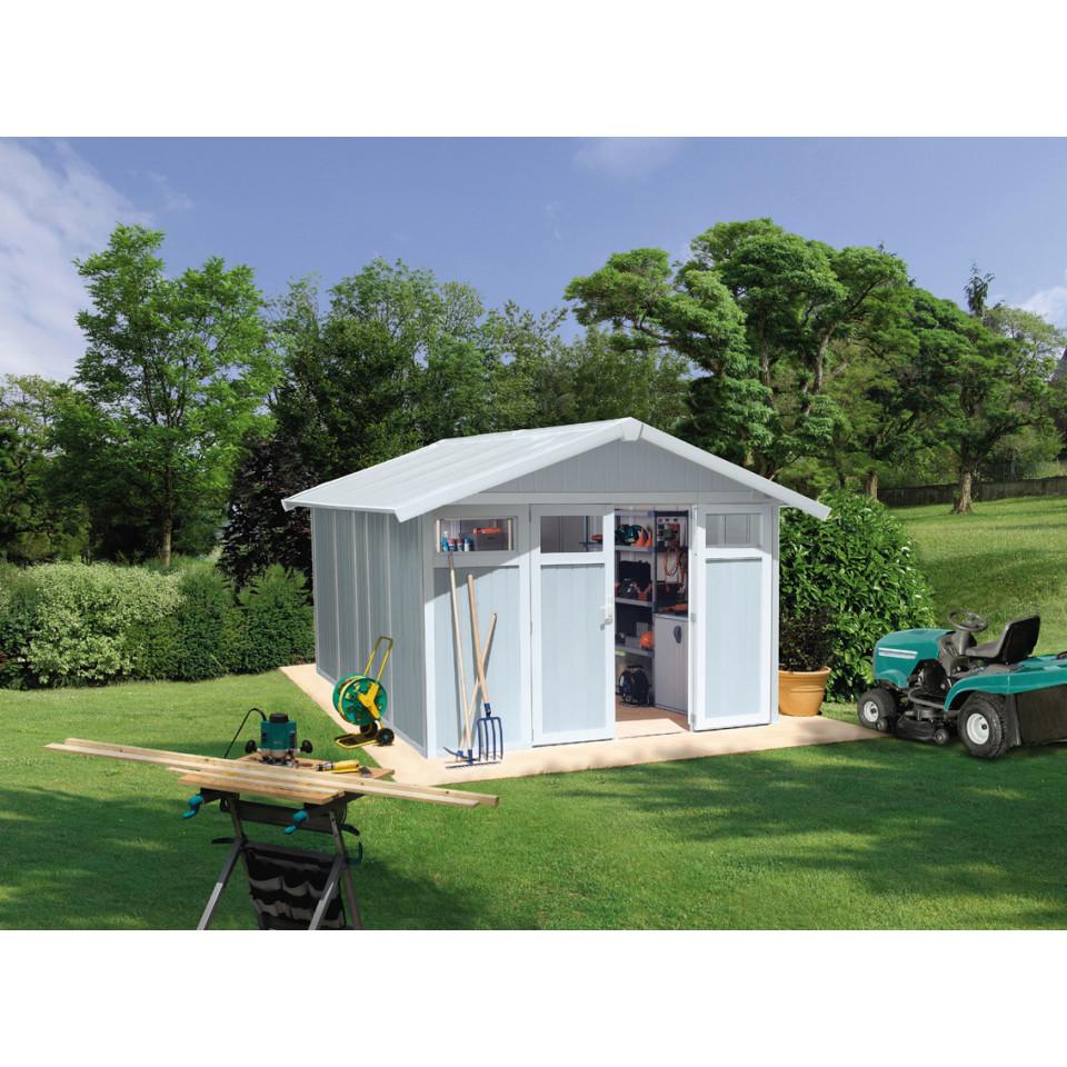 acheter en ligne ada2b 7ca34 Abri de jardin Utility 11 m² gris - bleu