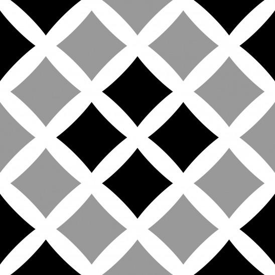 Carreaux adhésifs Square Cross