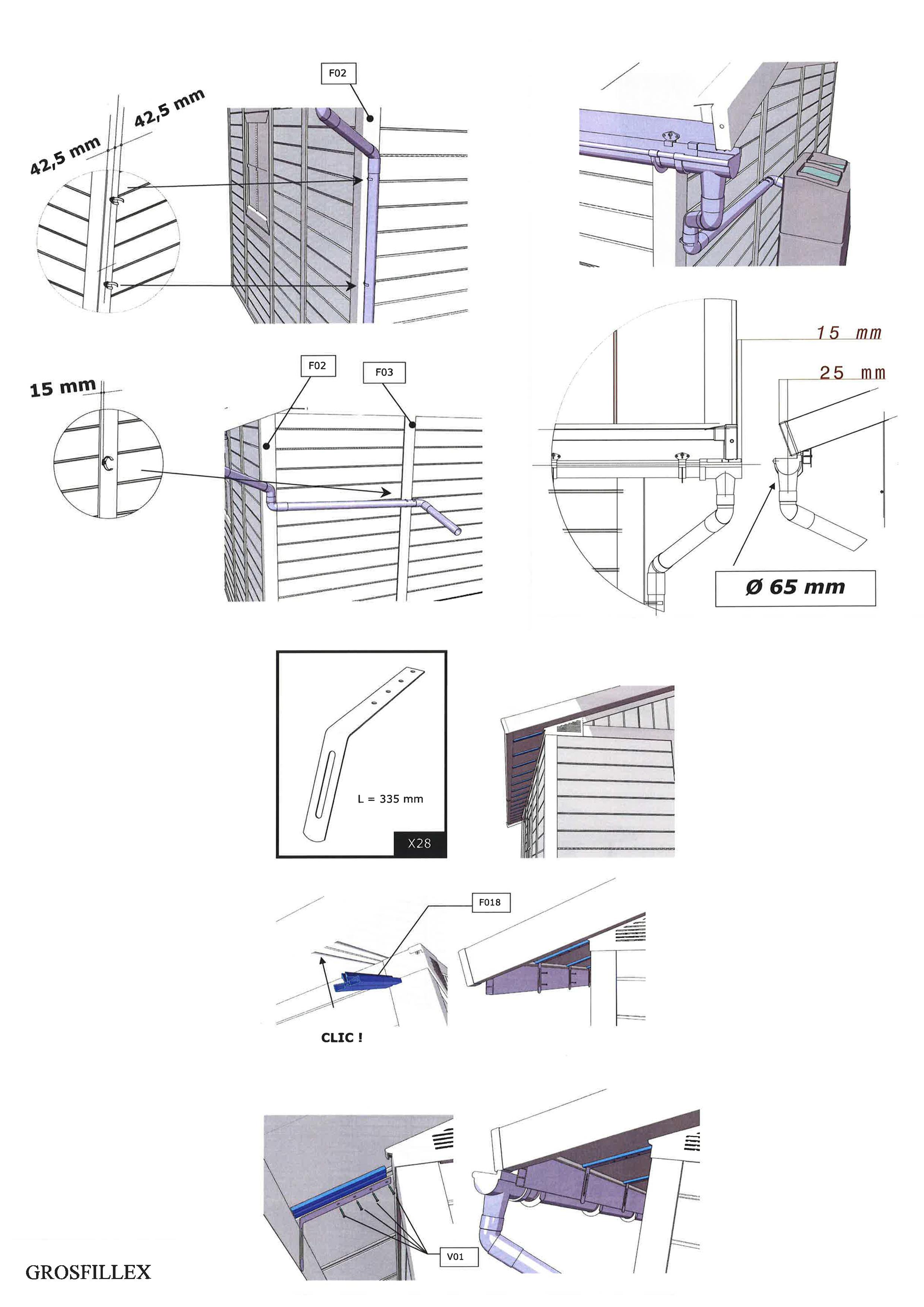 Gouttière Pvc En U comment se procurer un kit pour gouttière pour mon abri de