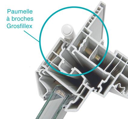 Pourquoi choisir Grosfillex pour vos fenêtres, paumelle broches Grosfillex