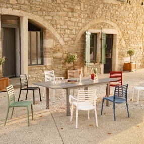 table familial table de jardin grande table dînatoire grande table de jardin table extérieur