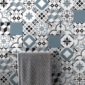 carrelage adhésif sticker carreau de ciment carreaux de ciment adhédifs carreaux adhésivés décoratifs