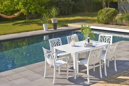 salon dînatoire mobilier jardin plastique table et chaise jardin mobilier extérieur